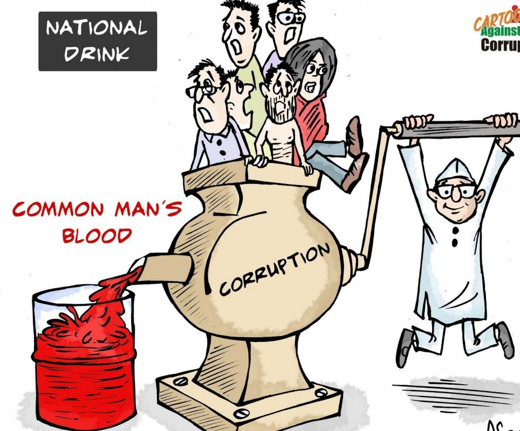 Corrution practices in India 2018